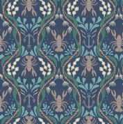 Lewis & Irene Harbour Side - 4944 - Lobsters & Anchors on Navy Blue  - A179.3 - Cotton Fabric